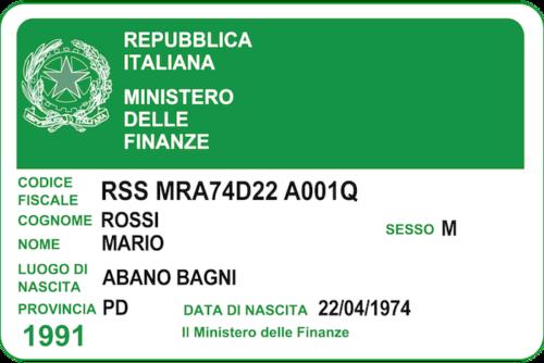 Steuernummer Italien